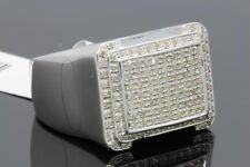 .65 CARAT MENS WHITE GOLD FINISH GENUINE DIAMOND ENGAGEMENT WEDDING PINKY RING