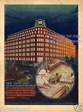 Schokolade Kakao Hamburg Reklame von 1931 Schokoladenfabrik  GEG  chocolate ad