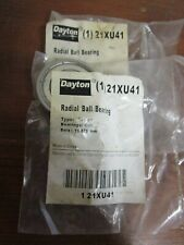 DAYTON 21XU41 Radial Bearing,DBL Shield,15.875mm Bore