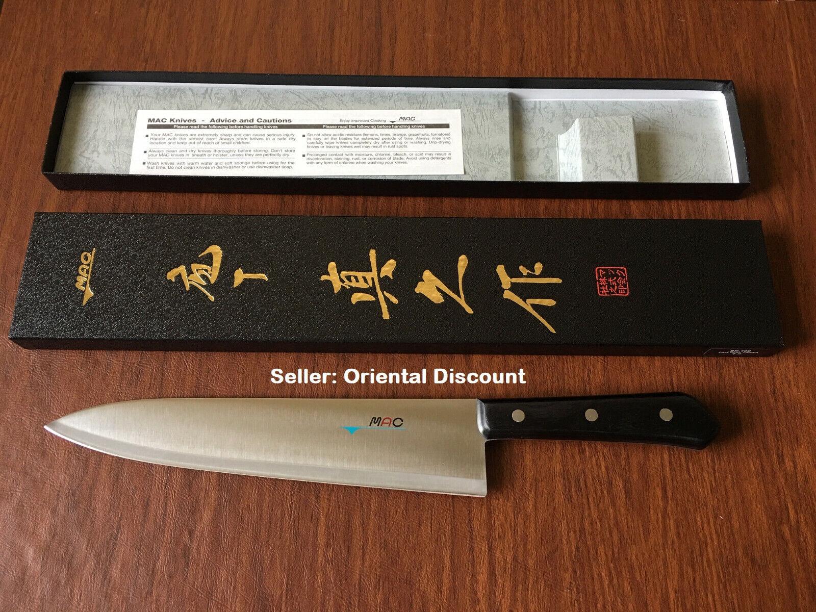 MAC BK-100 Chef Series 10  Couteau de Cuisine Argent molybdène ACIER MADE IN JAPAN