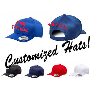 6c41001c8 Details about CUSTOM EMBROIDERY Personalized Customized Yupoong Flexfit  Adjustable Cap 6008