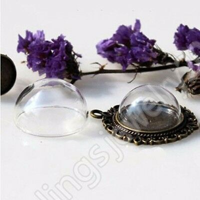 Glass Dome Beads Cover DIY Necklace Pendant Findings 15mm 20mm 25mm 30mm