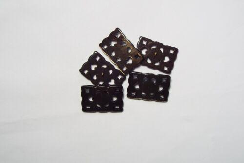 6pc 28mm cœur brun//larme faux effet de carapace cardigan enfants bébé bouton bead 2952