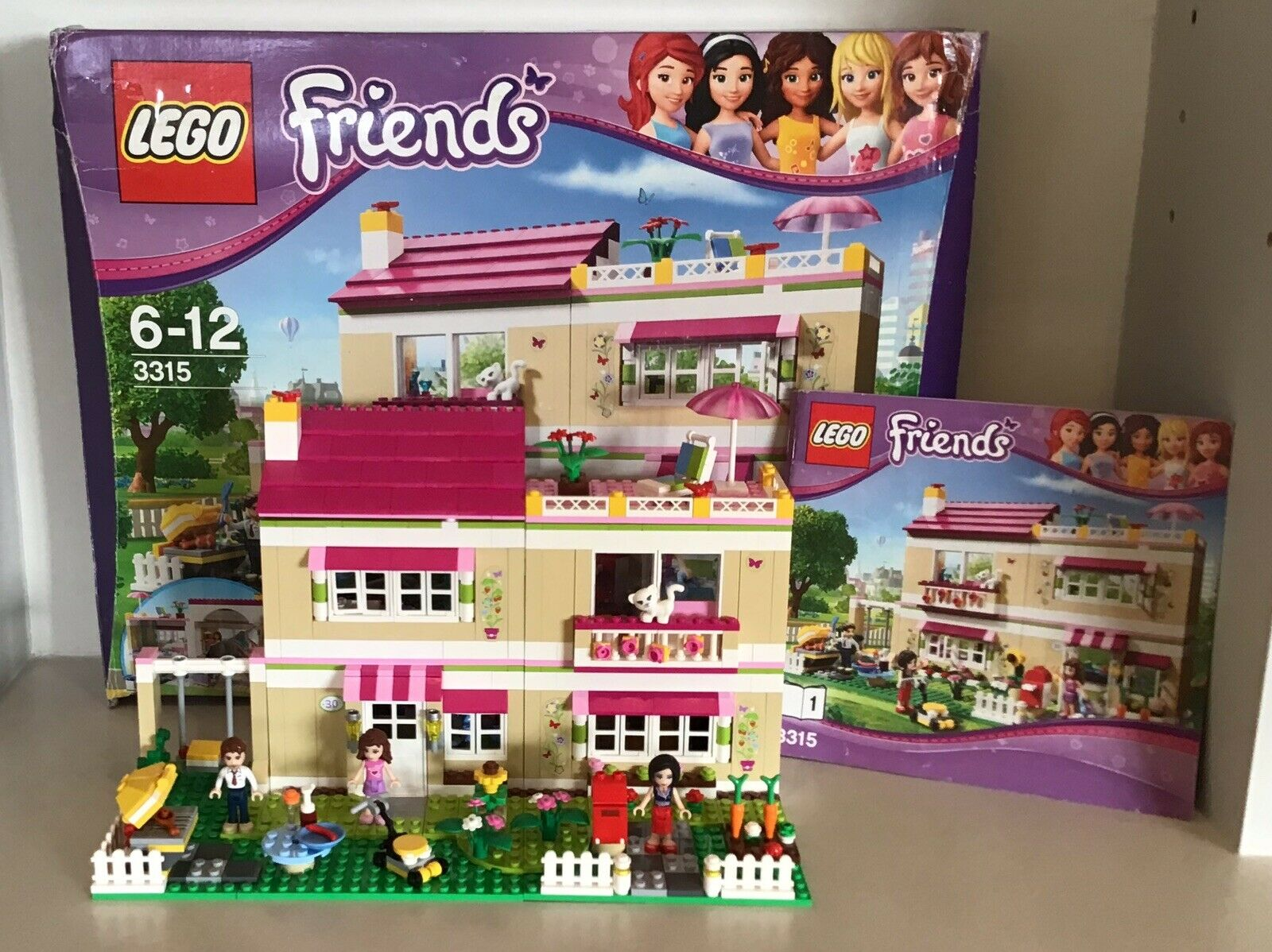 Lego Friends 3315 Boxed Instructions Peter Anna Olivias House