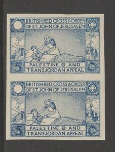 Palestine-Charity-Aid-Red-Cross-Middle-East-Cinderella-Stamp-6-10-43-mnh-gum