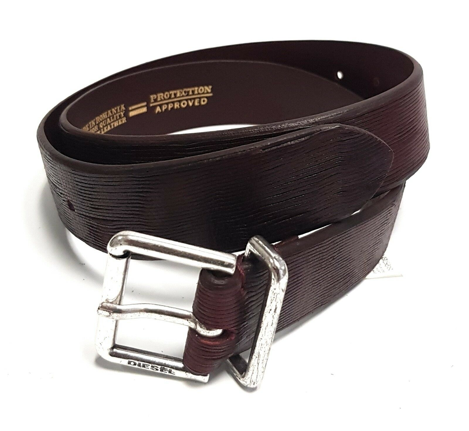 Diesel Leather Designer Belt bhelo Leather Belt Belt Cintura 85cm 34mm #79