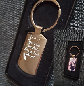 photo printed personalised memorial funeral gift new special keyring