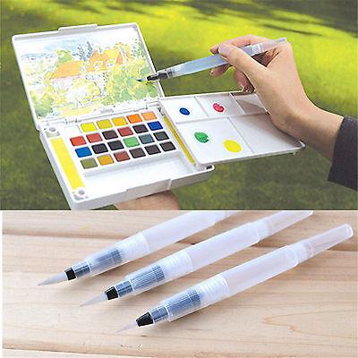 3pcs Pilot Ink Pen Water Brush Watercolor Calligraphy Drawing Painting Tool New