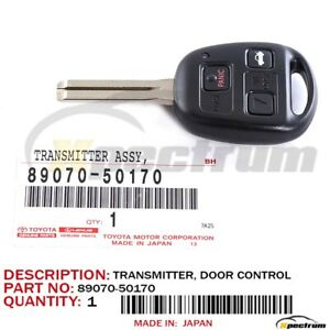 LEXUS OEM FACTORY MASTER KEY WITH REMOTE  FOR 2001 IS300