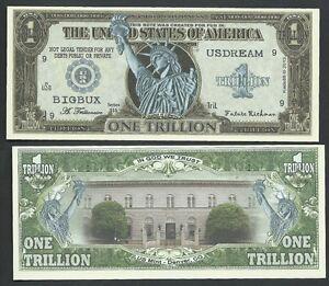 Image Is Loading Liberty Bigbux Us Dream Trillion Dollar Bill Fun