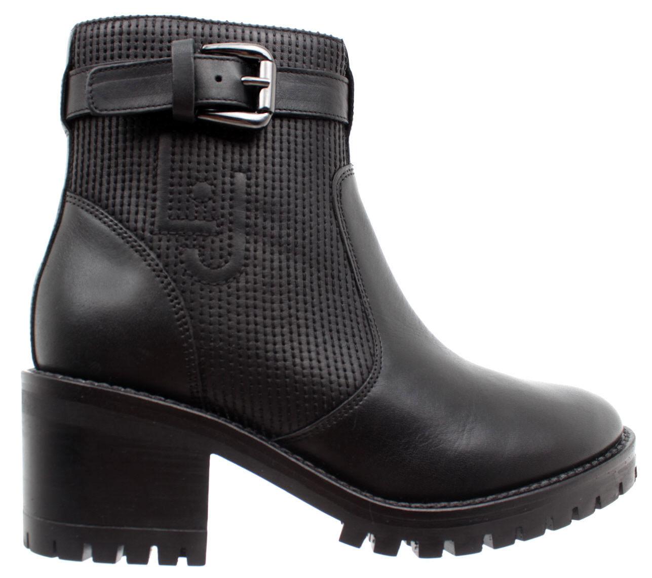 LIU JO Zapatos Mujeres botas Tina 02 botay Claf Leather negro Piel Negro Nuevos