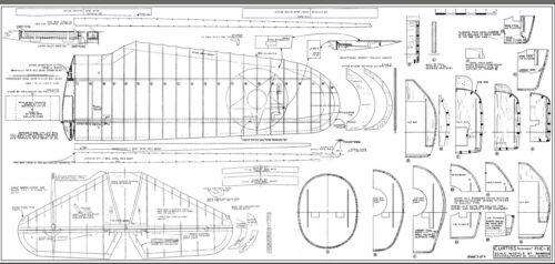 Curtiss F11C-2 Goshawk  64 inch wing  Scale RC Model AIrplane Printed Plans