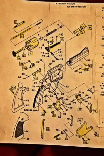 #7 Details about  /Smith and Wesson K Frame .38 Mil. /& Police, Victory, etc. Cylinder .38