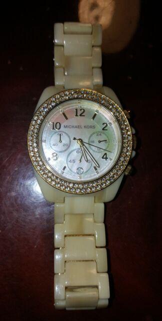 0fdd760f65b5 Women s Michael Kors Gold Horn Glitz Watch MK5524