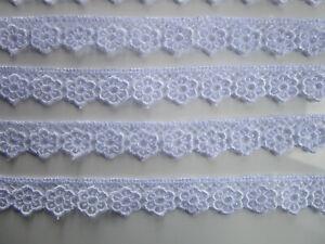 2-METER-GPO-Spitze-Blumen-1-5cm-Weiss-breit-Elegante-Nichtelastisch-GPO-218
