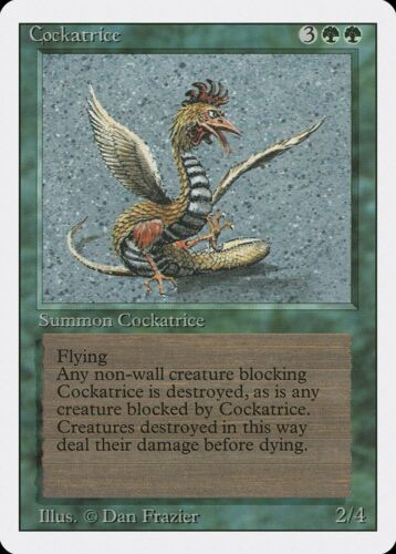 Cockatrice Revised PLD-SP Green Rare MAGIC THE GATHERING MTG CARD ABUGames