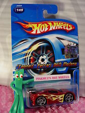 TOONED FERRARI 360 MODENA #149☆black;pr5☆2006 Hot Wheels Factory set hologram☆ms