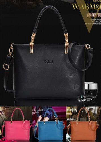 del bolso Negro hombro del Nuevo genuino Moda mujeres de totalizador grande las del de Bolso cuero Satchel tZqRw