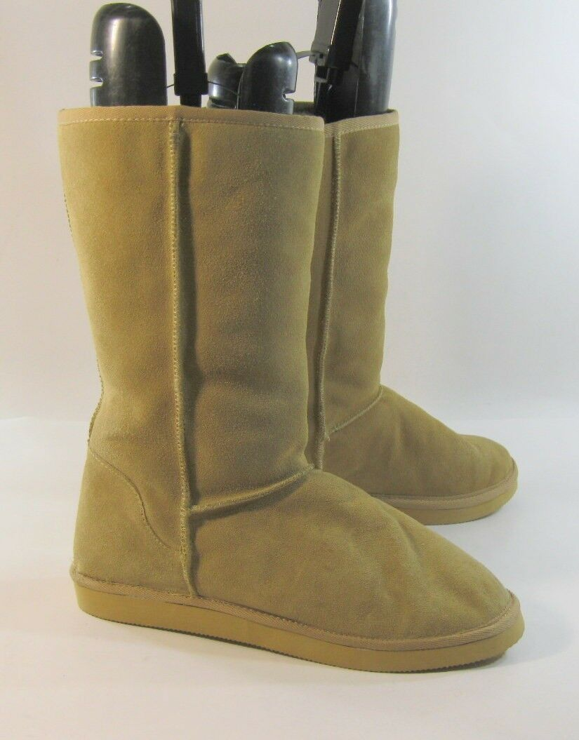 NEW Womens Camel color Round Toe  Warm Winter Ankle Boot Size 9