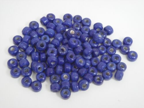 100 PCS BLUE PONY CROW GLASS BEADING BEADS #T-557