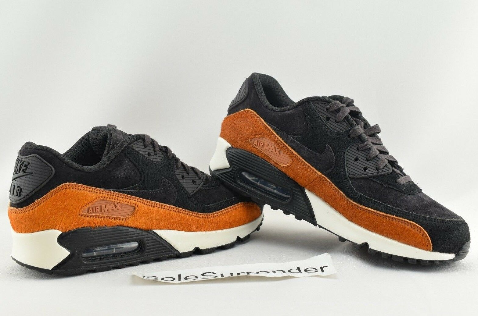 Women's Nike Air Max 90 LX - SIZE 8 - Tar Black Pony Horse Hair Brown