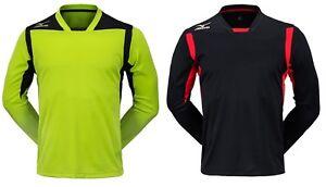 7a3c6fb86 Mizuno Men GK GAME L/S T-Shirts Jersey Training Black Lime Top Shirt ...
