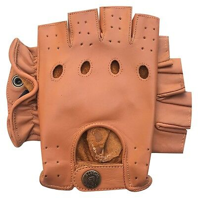 Prime driving motorbike unlined quality glove retro style chauffeur Amaan1 Tan