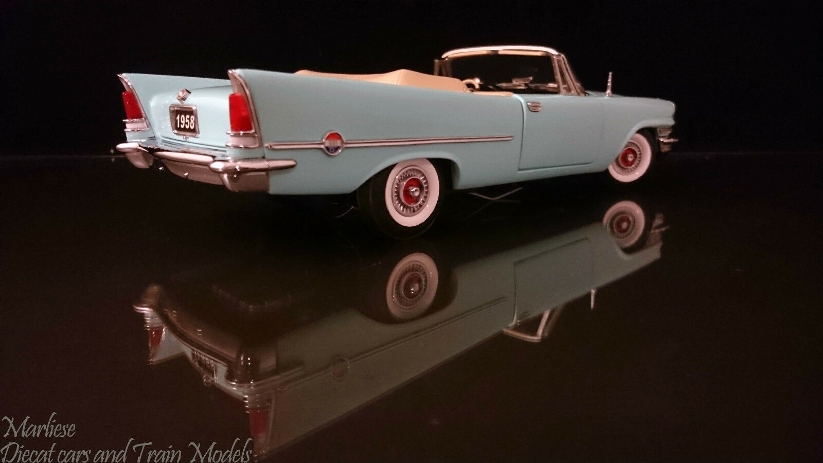 Franklin Mint 1 24 1958 Chrysler 300D Convertible LTD ED  13 2500 New Rare