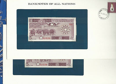 Banknotes of All Nations Somalia 1983 5 Shillings P31a UNC Serie D.006