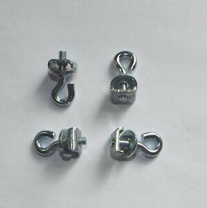 4-stabile-Metall-Gardinenfeststeller-oder-Bilderoesen-silber-fuer-Gardinenschienen