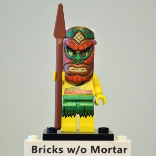 New Genuine LEGO Island Warrior Minifig with Mask and Pike Series 11 71002