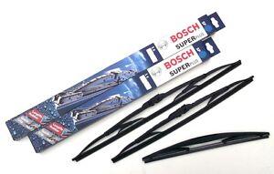 Citroen-C2-Front-amp-Rear-Window-Windscreen-Wiper-Blades-Bosch-Super-Plus-PE1390