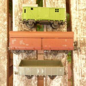 Piko-H0-Konvolut-3-x-Gueterwagen-mit-Selbstentladewagen-Fad-OOt-DR-Epoche-4