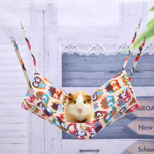 Pet Bird Hamster Ferret Squirrel Hammock Hanging Cage Nest Bed House Toy Tent V