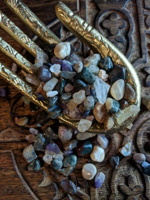 Natural Crystal Mix Tumbled Raw Stones Grids Untreated Gemstones Assorted