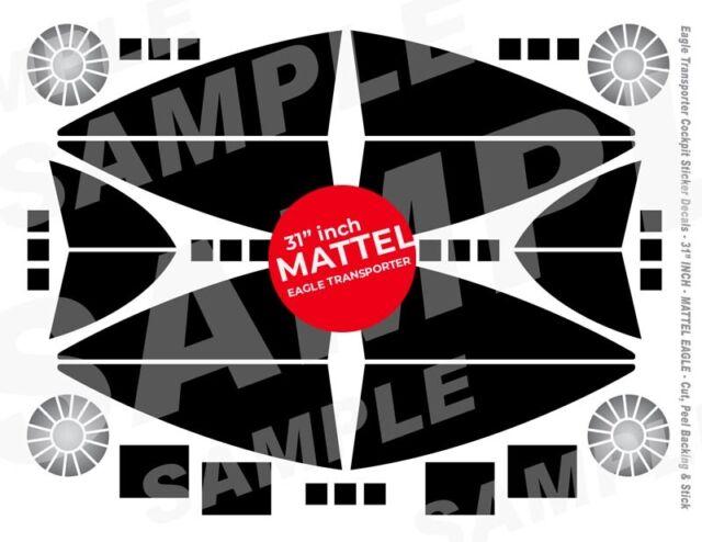 MATTEL - SPACE 1999 EAGLE - COCKPIT WINDOW - STICKER DECALS - 31