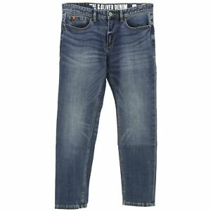 S-OLIVER-Herren-Jeans-Hose-TUBX-Straight-Stretch-blue-used-blau-22235