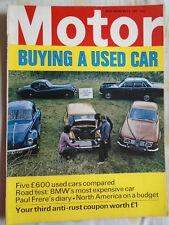 Motor 8/5/71 BMW 2800 CS
