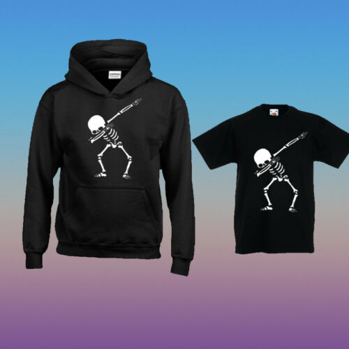 Dabbing Skull Skel Kids Boy Girl Top Tee/'s PS4 Xbox one PC Gaming Skin Prank Dan