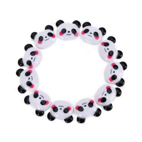 Panda Blanco Y Negro cabochon flatback arcos centro Craft embellecer de pelo de caballo
