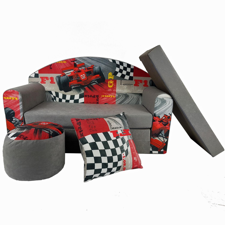 Kindersofa 3fr Ferrari minicouch Baby canapé Set coussins matelas