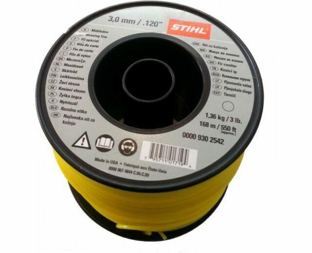 Stihl 3mm Round Trimmer Line 0000 930 2542 Strimmer Brushcutter Mowing 168m