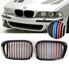 Gloss Black M-color Kidney Grille Grill For BMW E39 5 Series E39 M5 1997-2003