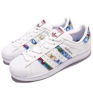 631bd5183bb La foto se está cargando Adidas-Originales-Superstar-W -Multi-Color-Blanco-para-