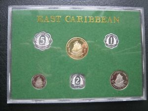 East Caribbean States 1981 Proof Coin Set by Royal Mint: Cent ~ $1 Dollar Cased