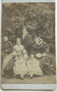 Famille Giardino Carte de visite CDV Francia Foto N° P Vintage Albumina c1860