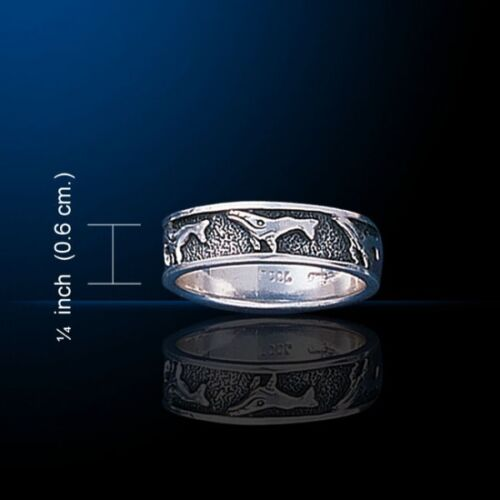 Whale Ring Peter Stone .925 Sterling Silver Jewelry