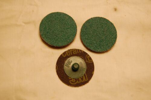 "3M 2/"" 50 grit Roloc Grinding Disc Qty of10"