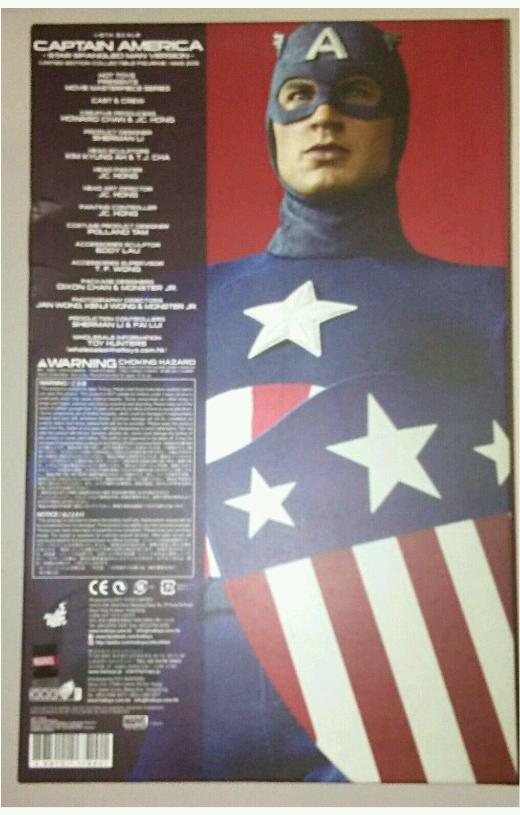 1 6 Hot Toys Captain America MMS205 MMS205 MMS205 Empty Box With Plastic Inserts 563389
