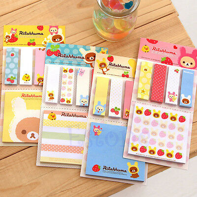 Bookmark Point It Marker Memo Flags Sticky Notes Strawberry Bear Sticker